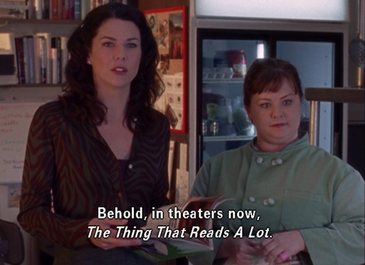 readathon, reading, Gilmore girls, bibliophile, Rory Gilmore, gif, the thing that reads a lot, book geek, hour 7